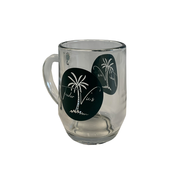 TRADER VIC'S PALM LOGO GLASS MUG