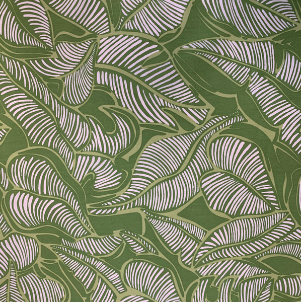 GREEN LEAF FABRIC (2 YARDS)