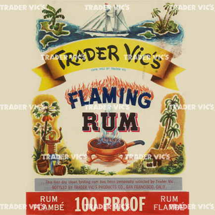Flaming Rum Label Print