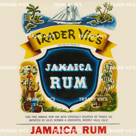 Trader Vic's Jamaica Rum Label Print | Home of the Original Mai Tai
