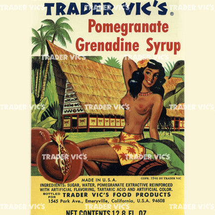 Vintage Grenadine Label Print