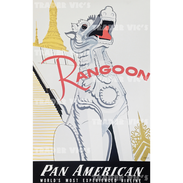 RANGOON PAN AM POSTER
