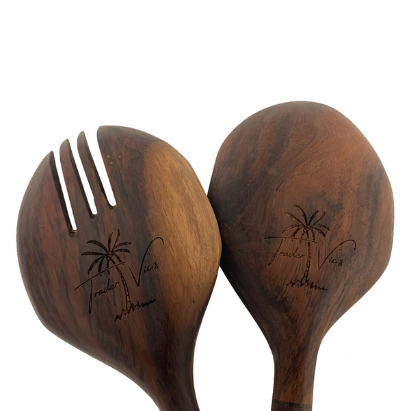 HAND CARVED SALAD SERVERS
