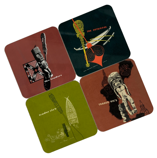 VINTAGE MENU COASTER SET (set of 4)
