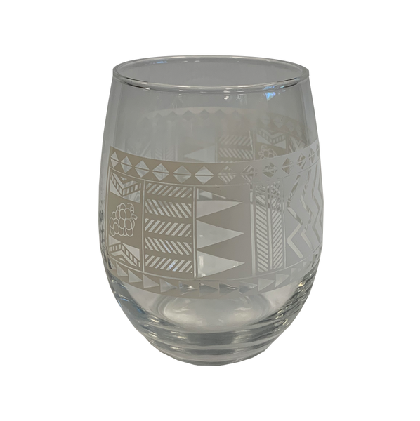 TAPA PATTERN WINE GLASSES
