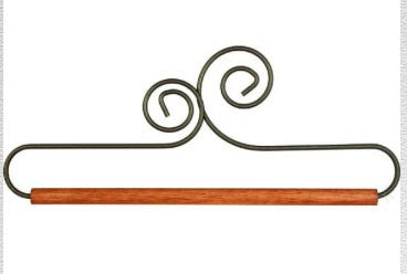 Ackfeld Wire Double Scroll Hanger w/Dowel - 12 inch and 7.5 inch