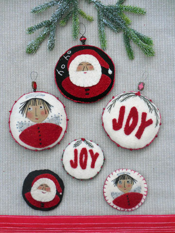 Christmas Pins and Ornaments Pattern #RR199 - Kit Also Available