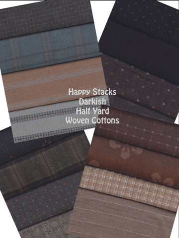 WOVEN COTTON HAPPY STACKS-HALF YARD DARKISH. - Item#HSDarkish