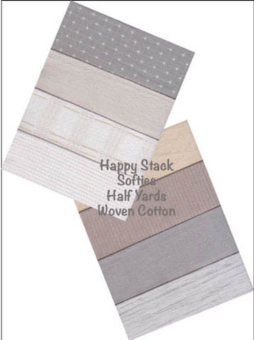 WOVEN COTTON HAPPY STACKS - HALF YARDS SOFTIES