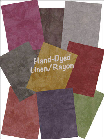 HAND-DYED LINEN/RAYON FAT QUARTERS  #AFAB-LRFQ