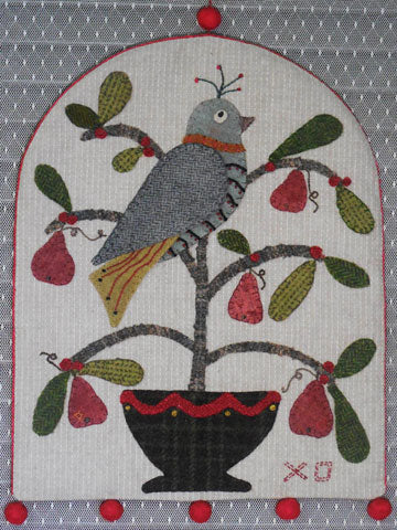 Partridge In A Pear Tree  DIGITAL PATTERN DOWNLOAD