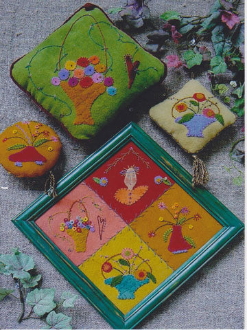 Baskets Full Applique/Sachet/Pincushion Pattern #RR91