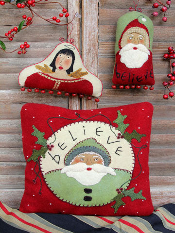 Believe Pillow & Ornament Pattern #RR155