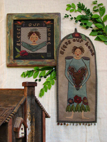 Bless Our home Wall Hanger & Frame Applique Pattern #RR146