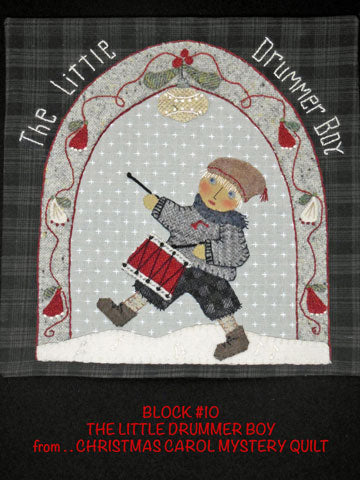 Christmas Carol Mystery Quilt Block #10  PRINTED PATTERN ONLY