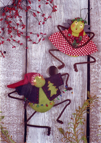 Christmas Crickets Wool Doll Pattern #RR69