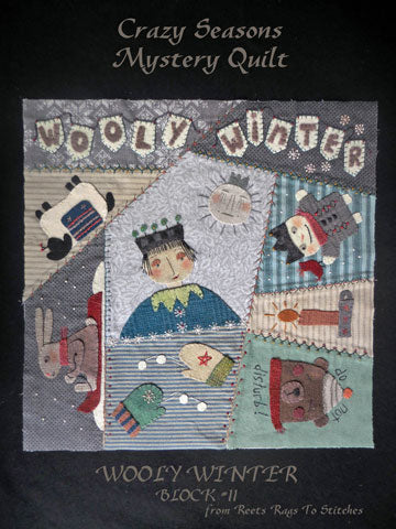 Crazy Seasons Quilt Block  PRINTED PATTERN ONLY