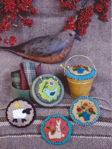 Four Mini Pins & Pincushions Pattern #RR135