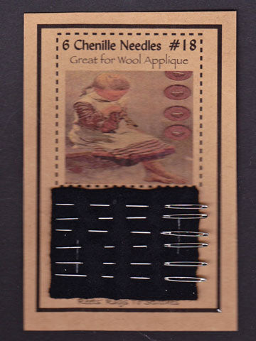 6 Chenille Needles - Four Sizes Available