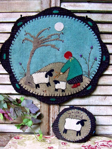 Kind Little Shepherdess Tablemat/Pincushion Pattern #RR115