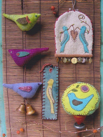 Little Bird Things Ornament, Pincushion, Bookmarker Pattern #RR117