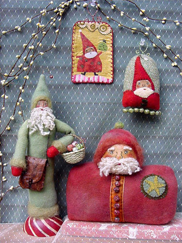 Little Santa Things Ornaments/Tags Pattern #RR136