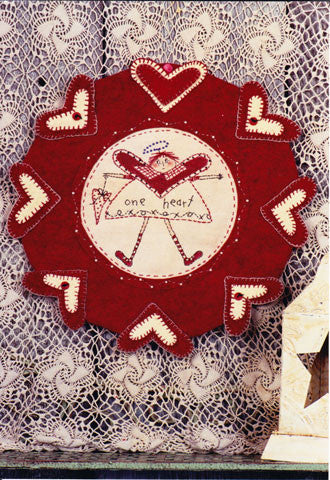 One Heart Pennyrug of the Month Pattern #RPM02