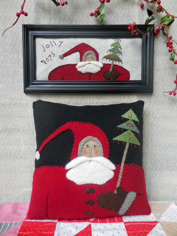 Santa Brings The Tree Pattern #RR182 - Pillow Kit Also Available