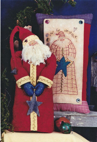 Star For Ole St. Nick Doll & Stitchery Pillow Pattern #RR53