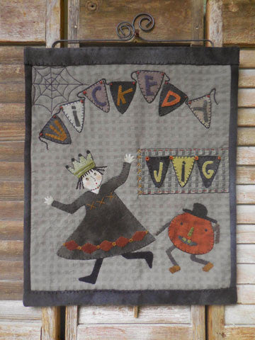 Wickedy Jig Wall Hanging Pattern #RR180 - Kit also available.