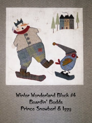 Winter Wonderland Boardin' Budds - Block #4 FREE PATTERN DOWNLOAD