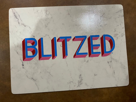 Blitzed. (Original rolling tray or placemat)