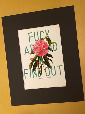 Fuck Around and Find Out floral art print