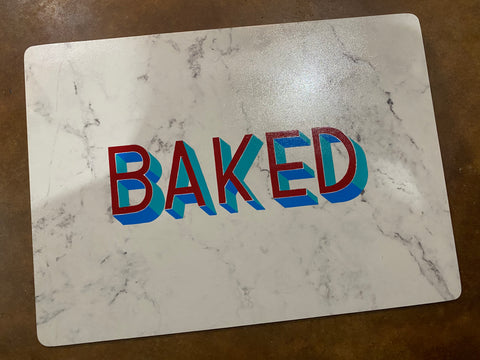 Baked. (Original rolling tray or placemat)