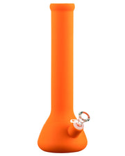 Orange Silicone Beaker Bong