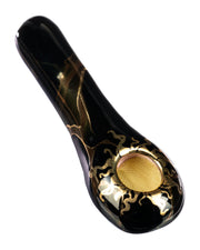 Golden Sun Spoon Pipe Black