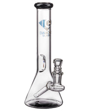 Diamond Glass Fixed Downstem Mini Beaker in Black