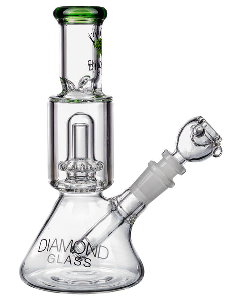Diamond Glass Short Neck UFO Beaker Bong