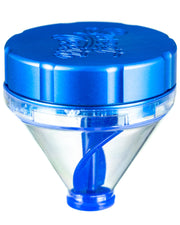 "Blue ""Fill 'er Up"" Funnel Style Aluminum Grinder"