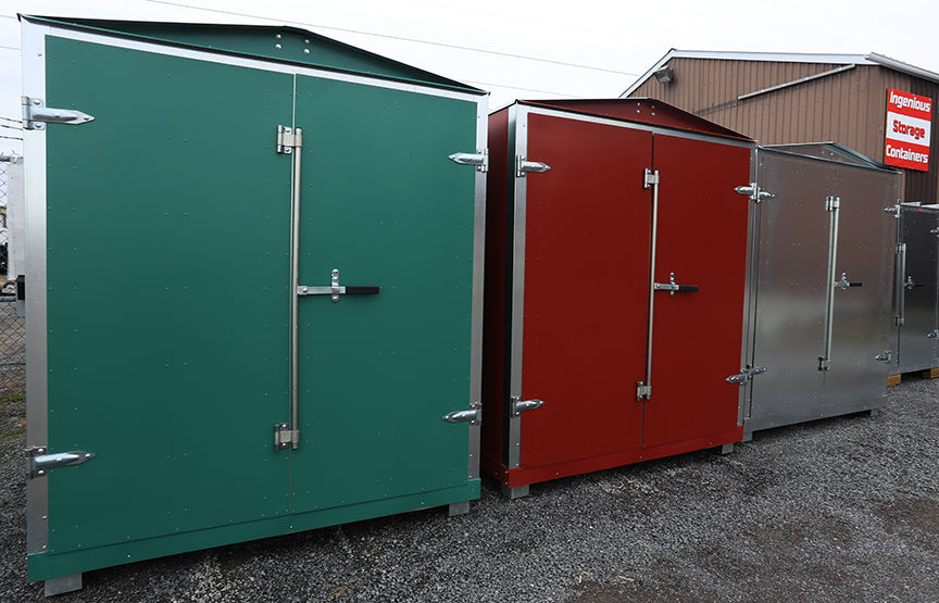 Outdoor Storage Showroom right on the 401 at Napanee.