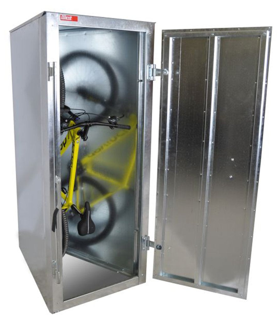 Perfect solution for bike storage.  Safe and secure locker for your bicycle.
