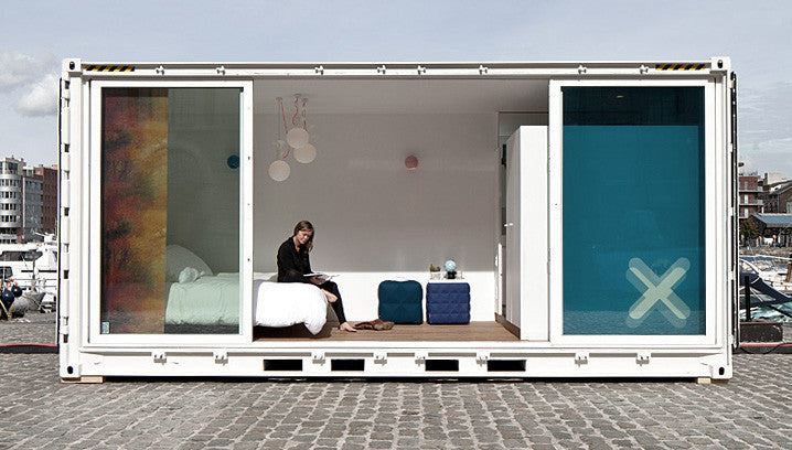 Sleeping Around? A luxury hotel concept using 20ft shipping containers.