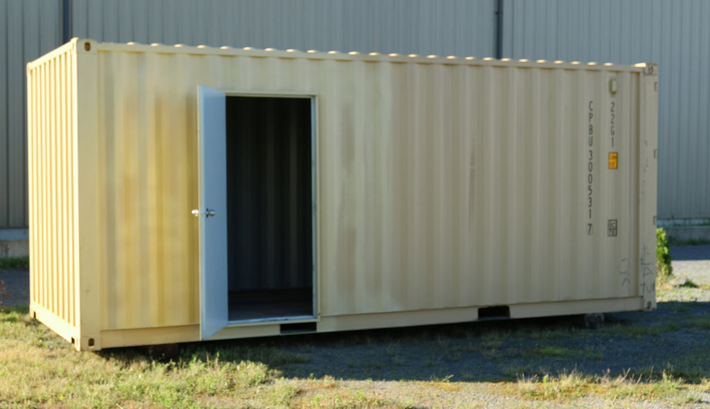 One trip shipping container with simple modification