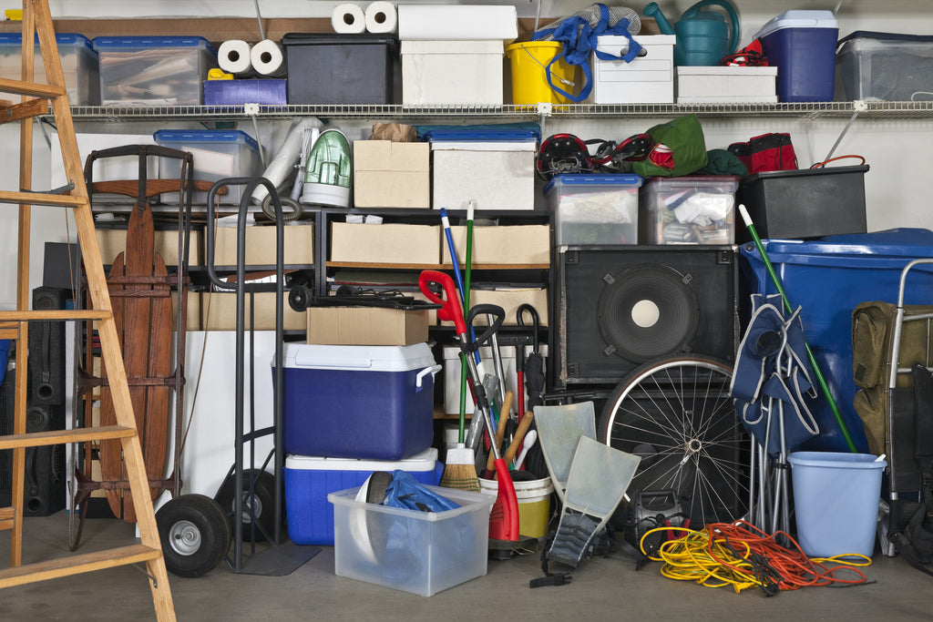 Does your garage at home look like this: cluttered, disorganised, untidy