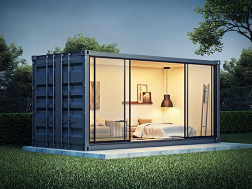 Rethinking Survival in the age of Covid-19.  Container home as isolation and/or escape.