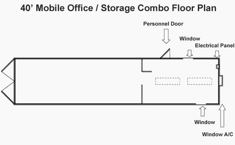 Mobile office storage container plan