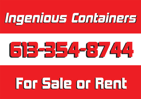 Shipping container storage rental