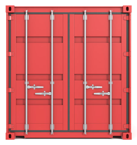 Seacan with standard double doors.