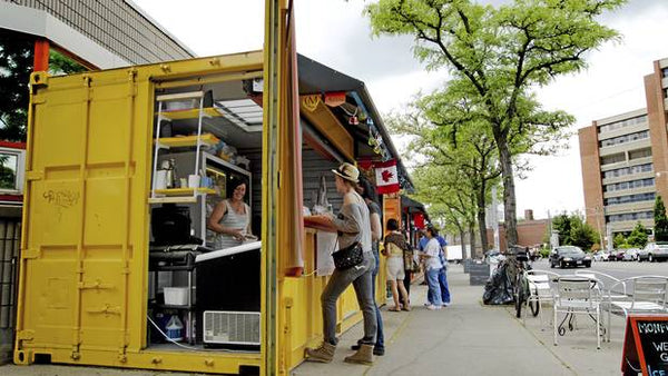 shipping container micro store vending