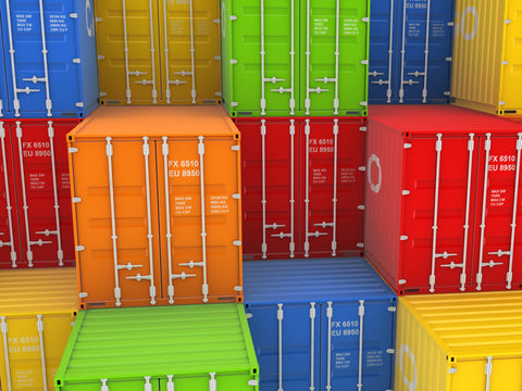 New shipping containers in stack